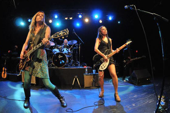 The Bangles (l to r: Vicki Peterson, Debbie Peterson & Susanna Hoffs at the TLA in Philadelphia October 1, 2011.  Photo copyright 2011: Jim Rinaldi.