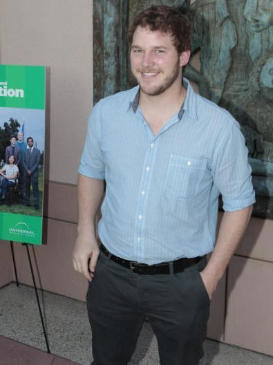 "PARKS AND RECREATION -- ""Emmy Screening"" -- Pictured: Chris Pratt -- Photo by: Chris Haston/NBC -- Wednesday, May 19, 2010 from the Leonard H. Goldenson Theatre, North Hollywood, Calif."