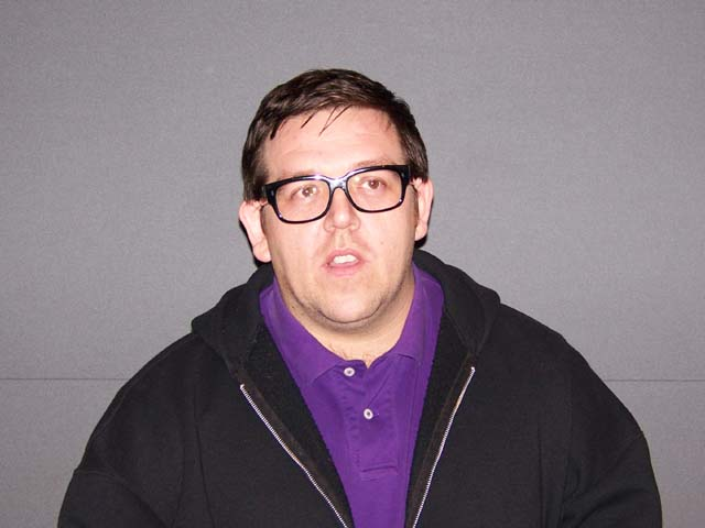 Nick Frost at the New York press day for PAUL.