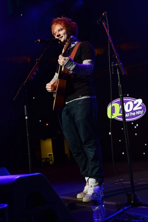 Ed Sheeran - Q102 Jingle Ball - The Wells Fargo Center - Philadelphia, PA - December 5, 2012 - photo courtesy of DKC � 2012