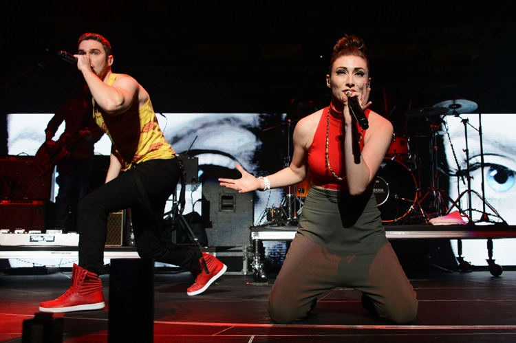 Karmin - Q102 Jingle Ball - The Wells Fargo Center - Philadelphia, PA - December 5, 2012 - photo courtesy of DKC � 2012