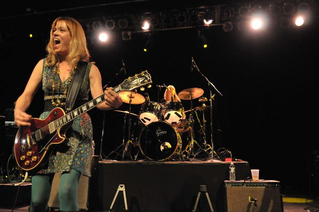 Vicki Peterson and Debbi Peterson of The Bangles at the TLA in Philadelphia - October 1, 2011.  Photo copyright 2011: Jim Rinaldi.