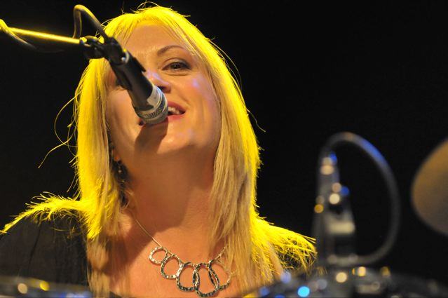 Debbi Peterson of The Bangles at the TLA in Philadelphia - October 1, 2011.  Photo copyright 2011: Jim Rinaldi.