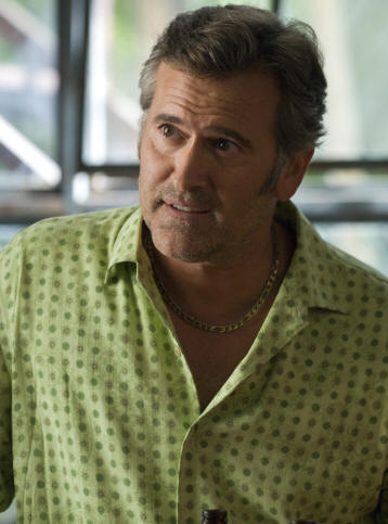 "BURN NOTICE -- ""Rough Seas"" Episode 207 -- Pictured: Bruce Campbell as Sam Axe -- USA Network Photo: Glenn Watson"