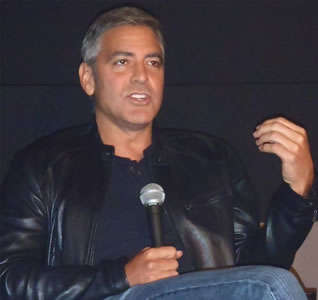 George Clooney at a press conference for 'The Descendants' at the 2011 New York Film Festival.