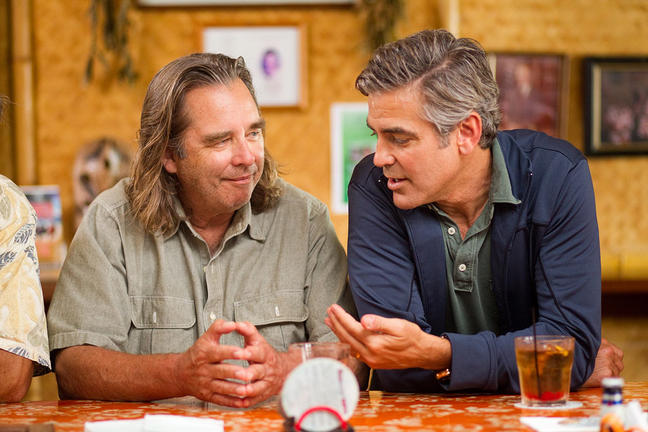 "Beau Bridges and George Clooney in the film ""The Descendants."""