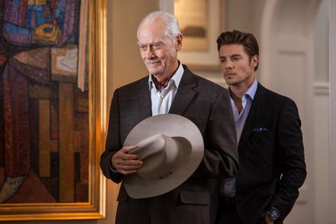 Larry Hagman and Josh Henderson star in DALLAS.