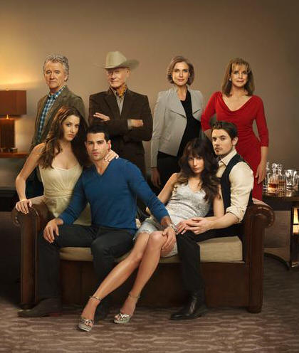 Patrick Duffy, Julie Gonzalo, Jesse Metcalfe, Larry Hagman, Brenda Strong, Jordana Brewster, Josh Henderson and Linda Gray star in DALLAS.