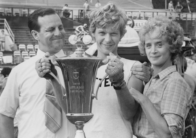 "Paul Dooley, Dennis Christopher and Barbara Barrie star in ""Breaking Away."""