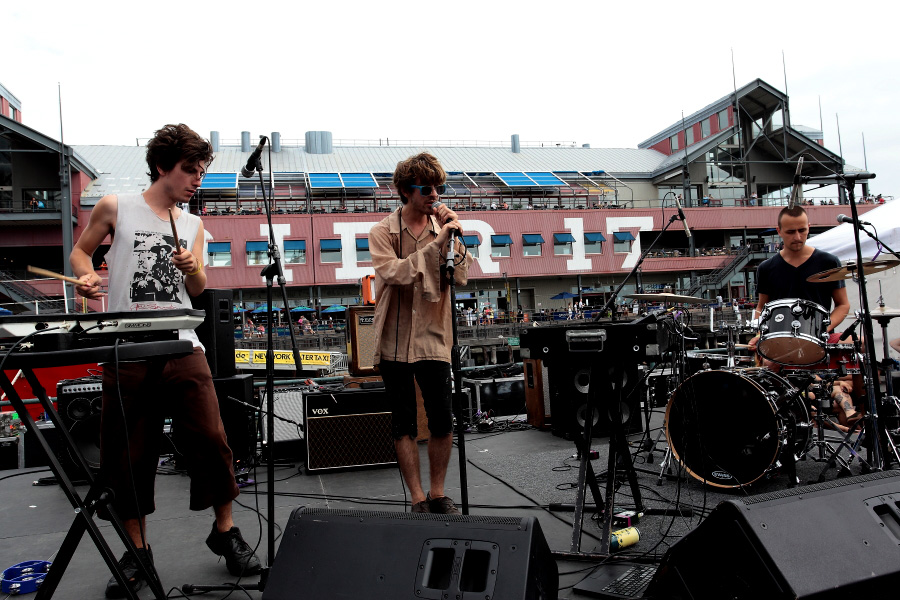 The Doldrums  - The 4Knots Music Festival - South Street Seaport - New York, NY - July 14, 2012 - photo by Mark Doyle � 2012