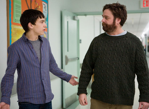 Keir Gilchrist (left) and Zach Galifianakis (right) star in writer/directors Anna Boden and Ryan Fleck's IT'S KIND OF A FUNNY STORY, a Focus Features Release.