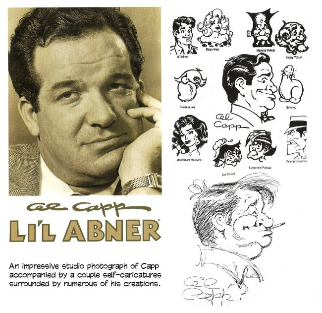 Al Capp and some of his art work.