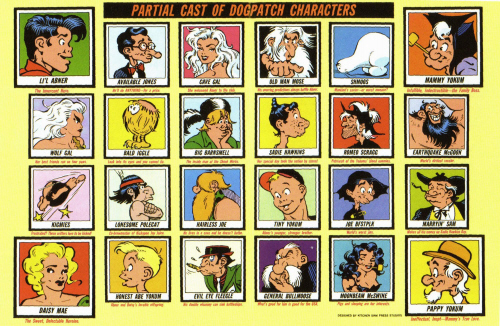Characters of the comic strip Li'l Abner