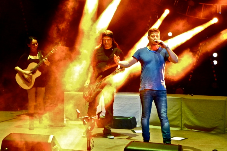 Rodrigo y Gabriela with Robert Trujillo of Metallica - Red Rocks Amphitheater - Morrison, Colorado - August 17, 2014 - photo by Jim Rinaldi � 2014