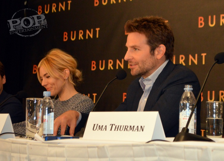Sienna Miller and Bradley Cooper at the New York press conference for Burnt. Photo ©2015 Jay S. Jacobs. All rights reserved.