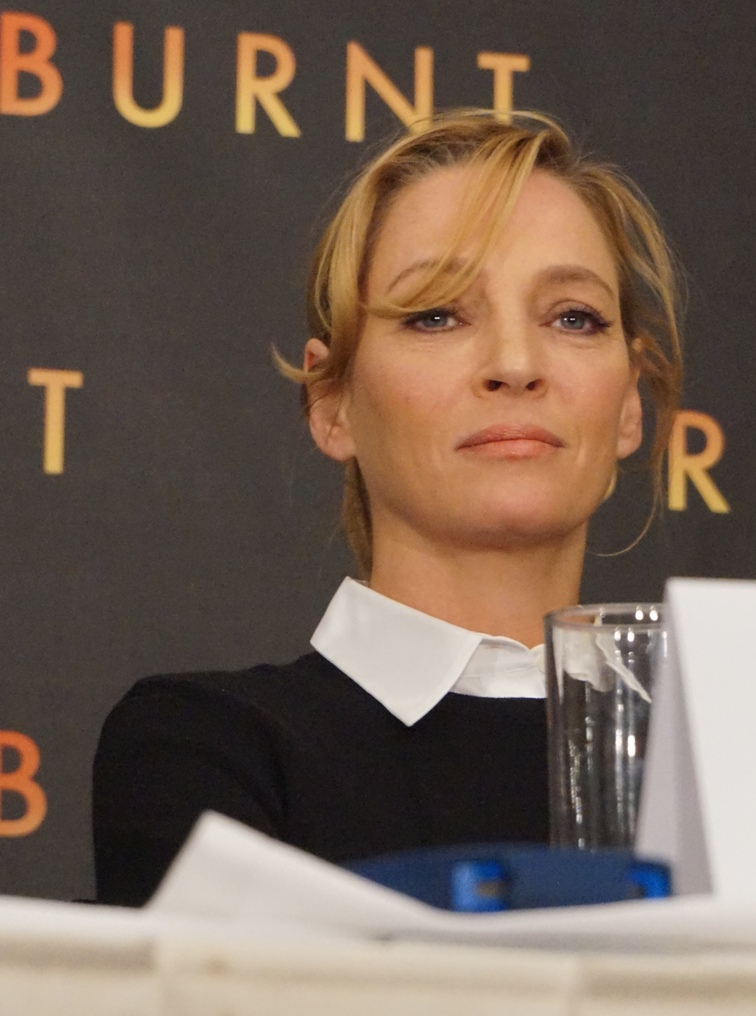 Uma Thurman at the New York press conference for Burnt. Photo ©2015 Brad Balfour. All rights reserved.