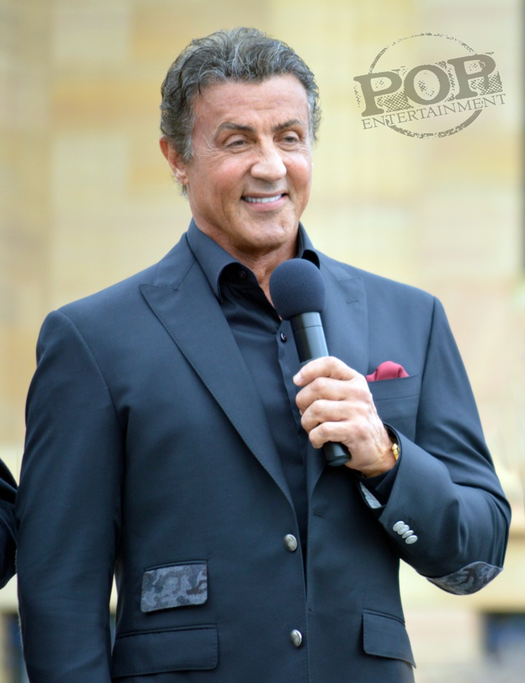Sylvester Stallone at the Philadelphia press conference for �Creed� on the steps of the Philadelphia Museum of Art. Photo copyright 2015 Deborah Wagner.