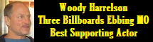 Woody Harrelson - Three Billboards Outside Ebbing Missouri - Best Supporting Actor 2018