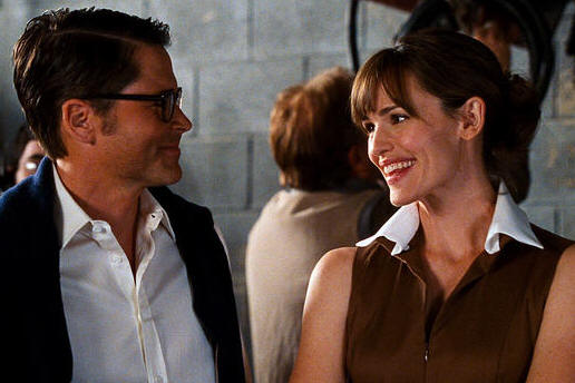 Rob Lowe and Jennifer Garner in 'The Invention of Lying.'