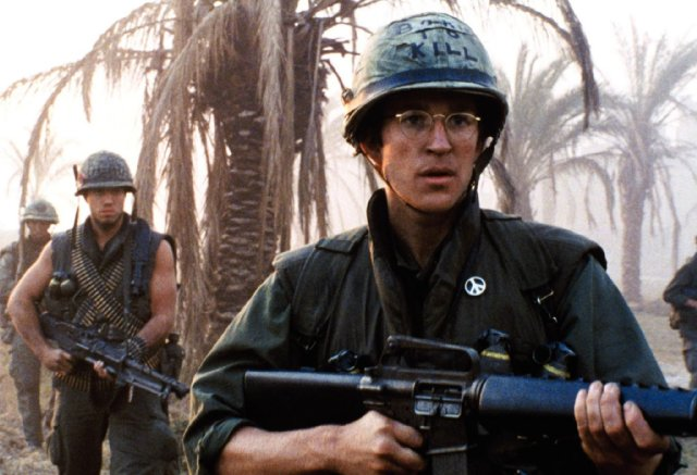 Matthew Modine in FULL METAL JACKET.