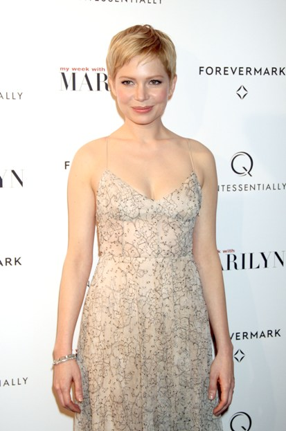Michelle Williams at the red carpet premiere of 'My Week with Marilyn.'