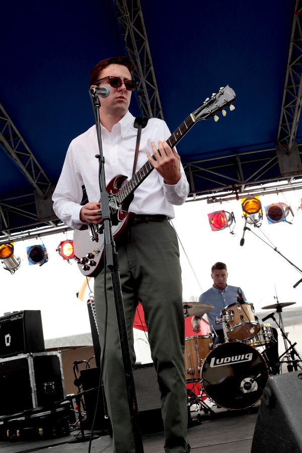 Nick Waterhouse - The 4Knots Music Festival - South Street Seaport - New York, NY - July 14, 2012 - photo by Mark Doyle � 2012