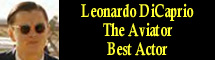 2005 Oscar Nominee - Leonardo DiCaprio - Best Actor - The Aviator
