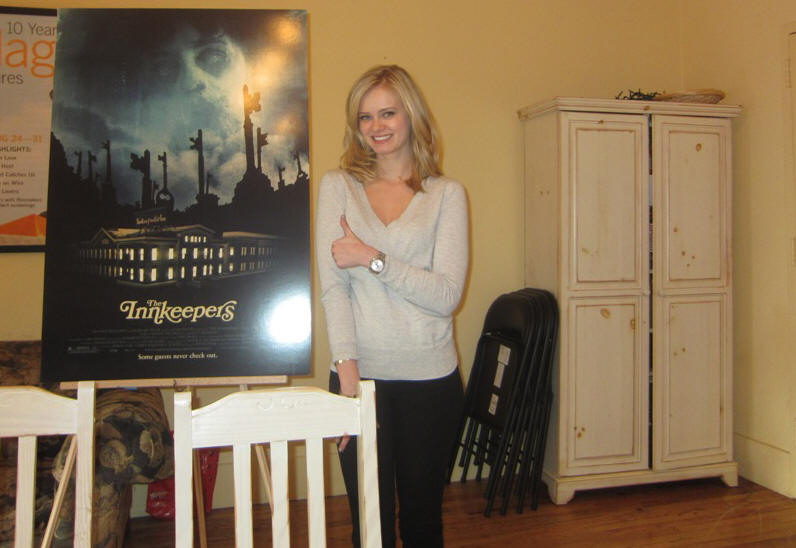 Sara Paxton at the New York headquarters of Magnolia Pictures discussing 'The Innkeepers' on January 3, 2012.