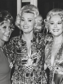 Rona Barrett with Zsa Zsa and Eva Gabor