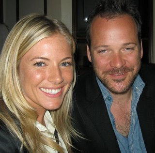 Sienna Miller and Peter Sarsgaard discussing 'The Mysteries of Pittsburgh' at the New York press day.